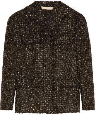 Michael Kors Metallic frayed tweed jacket