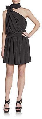 Saint Laurent Asymmetrical Silk Dress