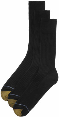 Gold Toe Adc Canterbury 3 Pack Crew Dress Men Socks
