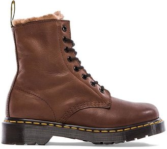 Dr. Martens Serena 8 Eye Boot with Faux Fur Liner