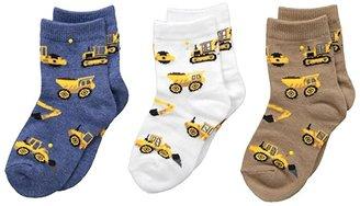 Jefferies Socks Construction Triple Treat 3-Pack (Infant/Toddler/Little Kid) (Putty) Boys Shoes