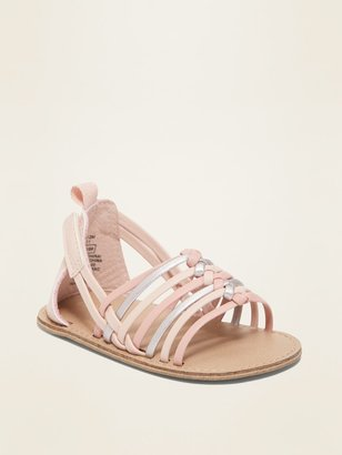 Old Navy Faux-Leather Multi-Strap Huarache Sandals for Baby