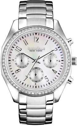 Caravelle New York by Bulova Women's Chronograph Stainless Steel Bracelet Watch 29mm 43L159 $125 thestylecure.com