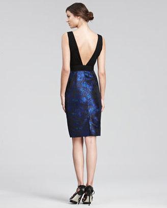 Jason Wu Jacquard-Skirt Cocktail Dress