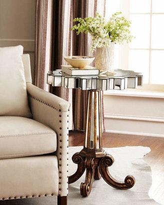 Ambella Coronado Fluted Mirror Side Table