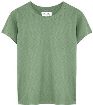 Velvet by Graham & Spencer Green Cotton T-shirt