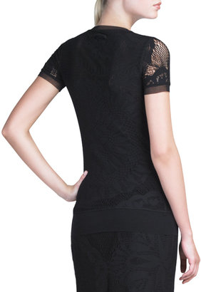 Jean Paul Gaultier Lace Tee, Black
