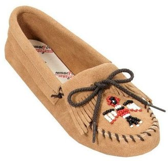 Minnetonka Suede Leather Moccasins - Thunder bird Softsole