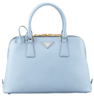 Prada Saffiano Small Promenade Crossbody Bag, Blue