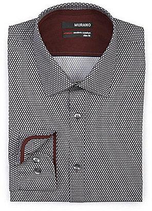 Murano Ultimate Modern Comfort Long-Sleeve Slim Print Sportshirt