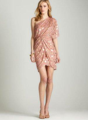 Night Way Nightway One-shoulder Drape Dress