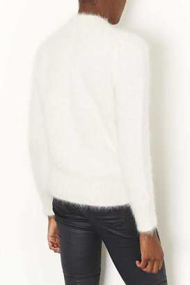 Topshop Knitted Super Fluffy Bomber