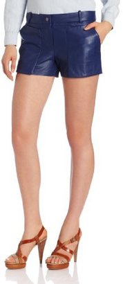 BCBGMAXAZRIA Women's Bruna Leather Sportswear Shorts