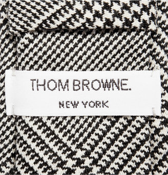Thom Browne Houndstooth Check Wool Tie