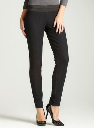 7 For All Mankind Seven7 Rinsed Black Pull On Jegging