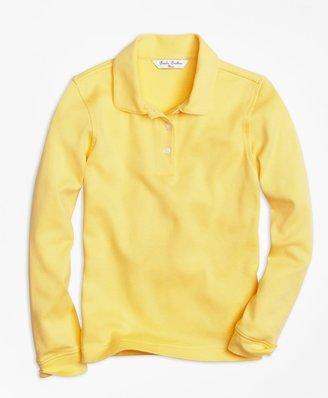 Brooks Brothers Girls Long-Sleeve Polo Shirt