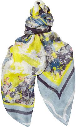 Erdem The Eames Park silk-gauze scarf