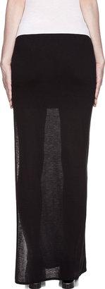 Helmut Lang Helmut Black Semi-Sheer Cut Out Maxi Skirt