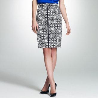 Jones New York Printed Slim Skirt