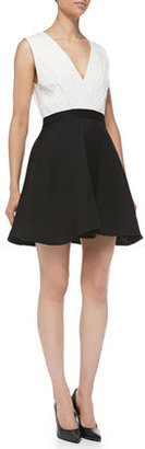 Alice + Olivia Tobin Two-Tone Sleeveless Combo Dress