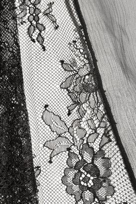 Alice + Olivia Sami pleated silk-chiffon and lace maxi dress