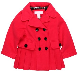 London Fog L212713 Girls Faux Wool Jacket (Toddler) (Pink) - Apparel
