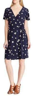 Chaps Floral Fit--Flare Jersey Dress
