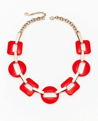 Ann Taylor Short Resin Link Necklace