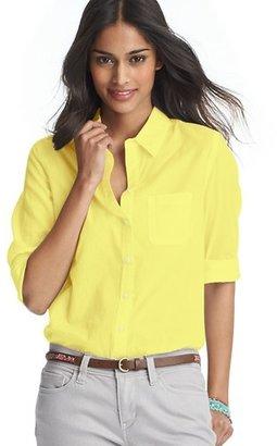 LOFT Sunwashed Cotton Button Down Shirt