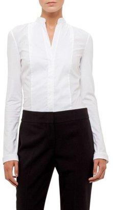 Women's Akris Punto Jersey & Poplin Blouse $395 thestylecure.com