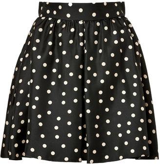Paule Ka Silk Polka Dot Skirt