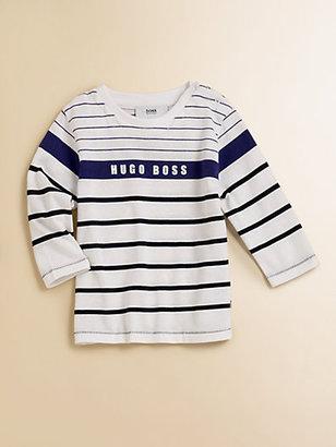 HUGO BOSS Toddler's Striped Logo Tee