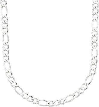 Primrose PRIMROSE Sterling Silver Figaro Chain Necklace - 20-in.
