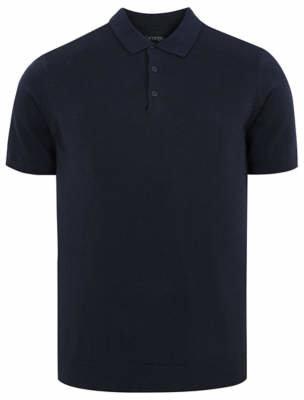 George Navy Pique Short Sleeve Polo Shirt