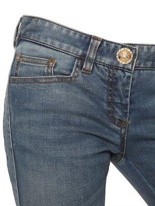 Balmain Biker Stretch Cotton Denim Jeans