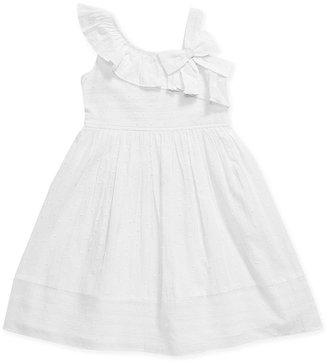Sweet Heart Rose Girls Dress, Little Girls Asymmetrical-Shoulder Sundress