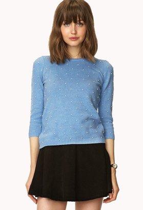 Forever 21 Pearlescent Embellished Sweater