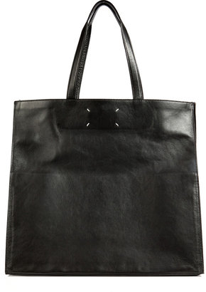 Maison Martin Margiela Leather Oversized Shopper Tote