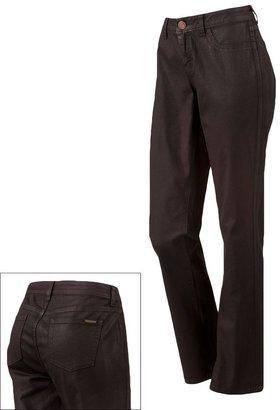 JLO by Jennifer Lopez coated straight-leg jeans