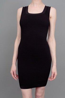 Torn By Ronny Kobo Sammy Ribbed Dress Black