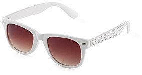 Icon White Wayfarer Sunglasses with Arm Bling