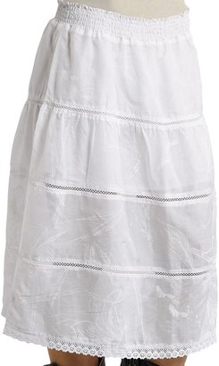 Stetson Tiered Skirt with Crochet Insets (For Women)