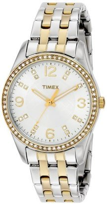 Timex Women's T2P389 Swarovski Crystal-Accented Stainless Steel Watch $124.90 thestylecure.com