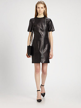 Alexander Wang Leather T-Shirt Dress