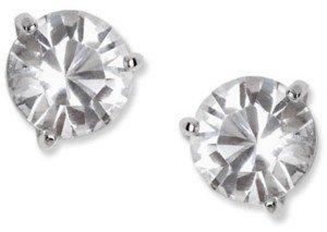 Swarovski Earrings, Solitaire Crystal Stud