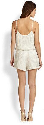 Parker Harrison Silk Beaded Short Jumpsuit