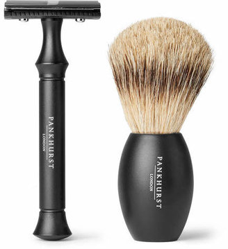 Pankhurst London - Razor And Brush Set - Black