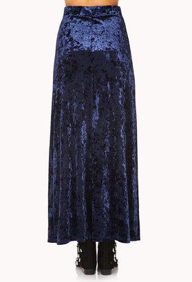 Forever 21 Enchanted Velveteen Maxi Skirt