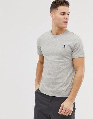 Polo Ralph Lauren plain crew neck t-shirt in grey