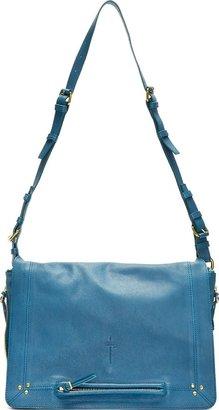 Jerome Dreyfuss Blue Leather Albert Messenger Bag